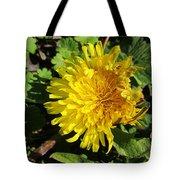Ruffled Dandelion Tote Bag