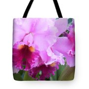 Ruffled Orchids Tote Bag