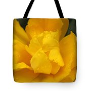 Yellow Ruffled Parrot Tulip Flower Tote Bag