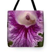 Ruffly Purple Orchid Closeup Tote Bag