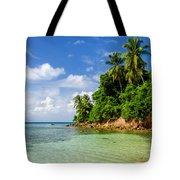 Rugged Lush Green Coastline Tote Bag