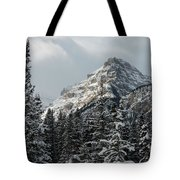 Rugged Mountain Peak With Snow Tote Bag