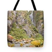 Rugged Mountain Wilderness Vegetation Tote Bag