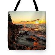Rugged Shore Fall Tote Bag