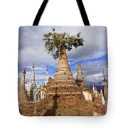 Ruined Pagodas At Shwe Inn Thein Paya Tote Bag