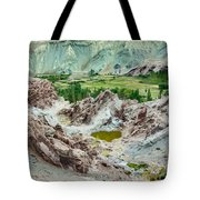 Ruins At Basgo Monastery Ladakh India Tote Bag