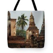 Ruins At Sukhotai Tote Bag