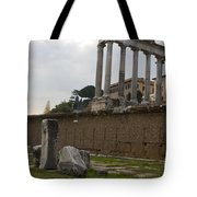 Ruins In The Roman Forum Rome Italy Tote Bag