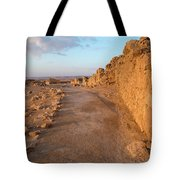 Ruins Of A Fort, Masada, Israel Tote Bag