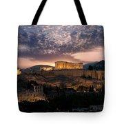Ruins Of A Temple, Athens, Attica Tote Bag