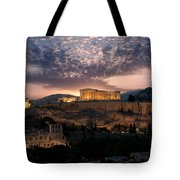 Ruins Of A Temple, Athens, Attica Tote Bag