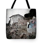 Ruins Of An Abandoned Farm House Tote Bag