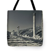 Ruins Of Roman-era Columns Tote Bag