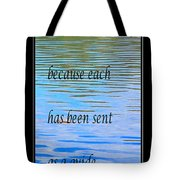 Rumi Quote 2 - Grateful - Guide Tote Bag by Barbara Griffin