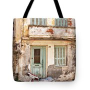 Run-down Building In Rethymnon Tote Bag
