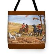 Run Fox Run Hunting Painting Commission Tote Bag