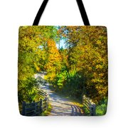 Runner's Path In Autumn Tote Bag