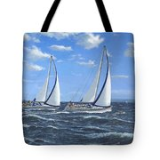 Running Close Hauled Tote Bag