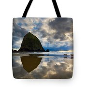 Running Free - Dogs Running In Beautiful Cannon Beach. Tote Bag by Jamie Pham