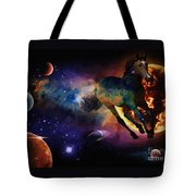 Running Horse Creation Tote Bag