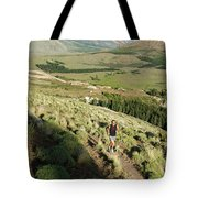 Running In Esquel, Chubut, Argentina Tote Bag