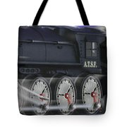 Running On Time Panoramic Tote Bag