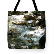 Running Over Rocks Tote Bag