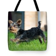 Running Puppy Tote Bag