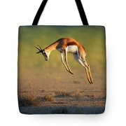 Running Springbok Jumping High Tote Bag