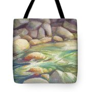 Running Stream Tote Bag