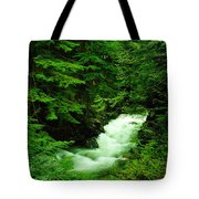 Running Through The Forest  Tote Bag