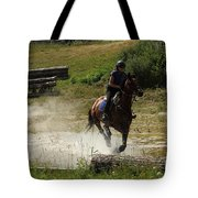 Running Thru Water  Tote Bag