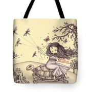 Running To The Spring Tote Bag