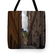 Running Up The Lane Tote Bag