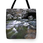Running Water Cave Tote Bag