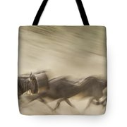 Running Wildebeest I Tote Bag