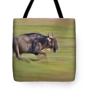 Running Wildebeest IIi Tote Bag