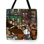 Running With The Bulls 1 Tote Bag