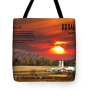Rural Barns By Randall Branham Tote Bag