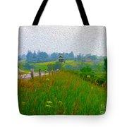 Rural Highway In Oil Paint Tote Bag