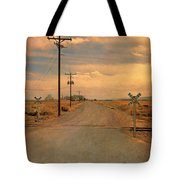 Rural Railroad Crossing Tote Bag
