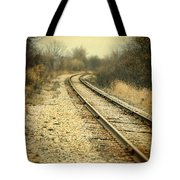 Rural Railroad Tracks Tote Bag