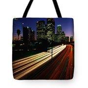 Rush Hour Harbor Freeway Los Angeles Ca Tote Bag