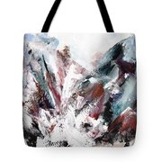 Rushing Down The Cliff Tote Bag