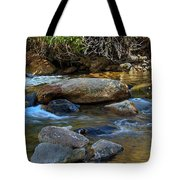 Rushing Mountain Stream Tote Bag