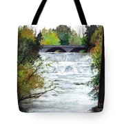 Rushing Water - Quiet Thoughts Tote Bag
