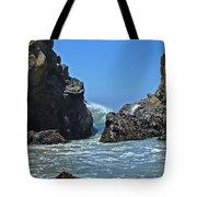 Rushing Wave - Big Sur Tote Bag