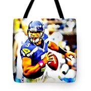 Russell Wilson In The Pocket Tote Bag