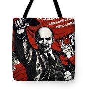 Russian Revolution October 1917 Vladimir Ilyich Lenin Ulyanov  1870 1924 Russian Revolutionary Tote Bag