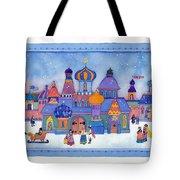 Russian Snowfall Fantasy Tote Bag